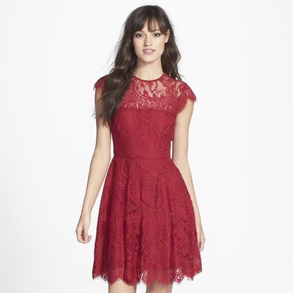 f2d2c05425390 BB Dakota Dresses   Skirts - Red BB Dakota lace dress