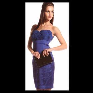 TED BAKER FAN SEASHELL BLUE DRESS SZ 3 US SZ 8