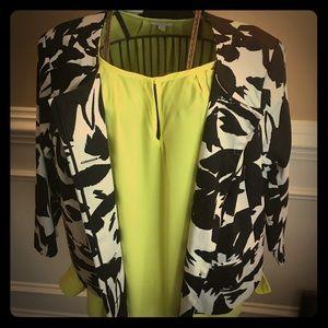 Eloquii 20 Sateen collarless feminine jacket