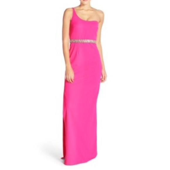 Aidan Mattox Dresses | Fuschia Gown | Poshmark
