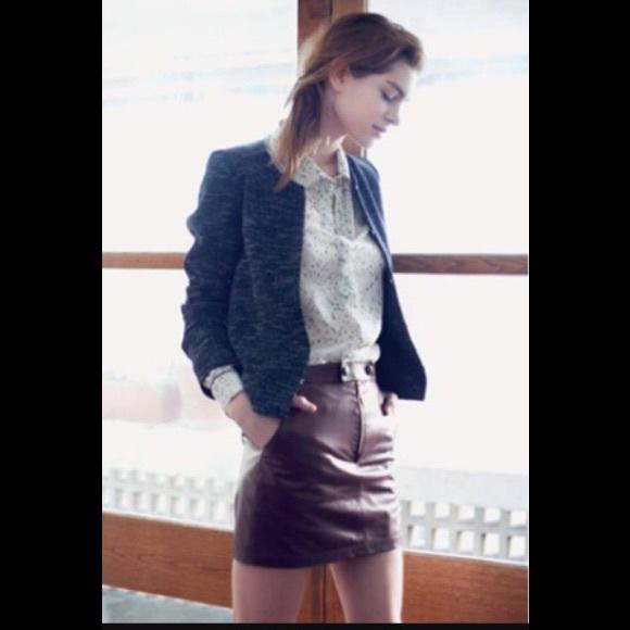 Valentine Gauthier Dresses & Skirts - Valentine Gauthier maroon leather mini 0