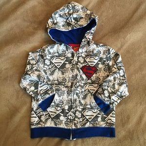Other - Superman zip up hoodie jacket