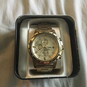 Gold Fossil Men's Watch