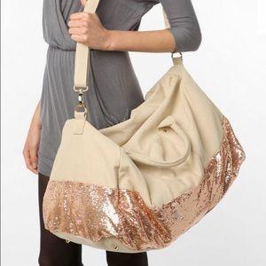 New! Sequin large weekender duffle bag