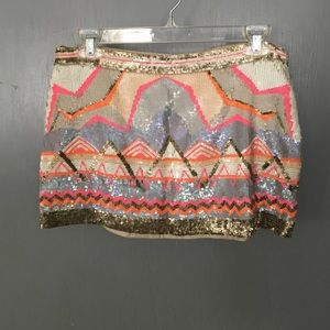 ALLSAINTS hand beaded mini skirt