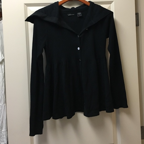 76% off Moda International Sweaters - Black cardigan with silver ...