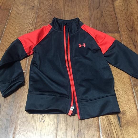 online store 3a478 c990e Under armour kids black red jacket sz 2 EUC. M 57af8e31fbf6f998da00d76e