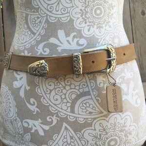 Woolrich Accessories - Woolrich Suede Multicolored Belt