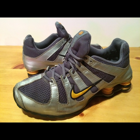 quality design acf61 fefbd ... Yellow   Silver Nike Shox Shoes. M 57af92977fab3a77d903eace