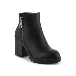 Shoes - Mix No. 6 'Desco' Black Chunky Heel Booties