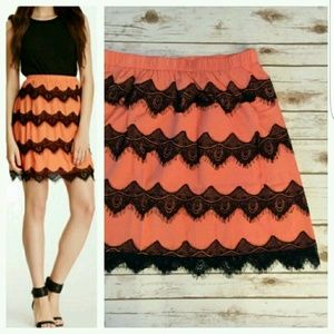 Dresses & Skirts - 💋 Brilliant Lace-trimmed Skirt! NWT!!! 💋