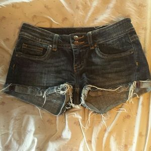 Vigoss Pants - Vigoss frayed cuffed shorts