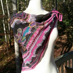 2for1 SQUARE Cotton Scarf