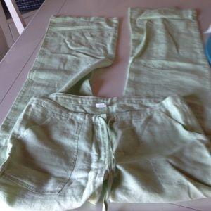 Pants - Mint green linen pants