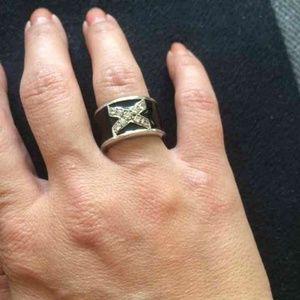 925 Stamp Silver Enamel Ring