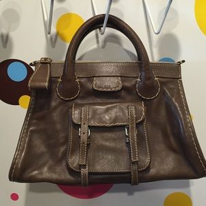 Chloe Edith Bag Brown