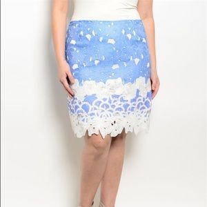 Katia Dresses & Skirts - Plus Size Lace Detail Fitted Skirt