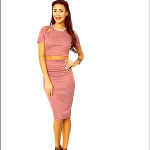 Lily White Dresses & Skirts - 2-piece crop top & skirt combo