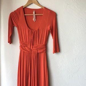 Bailey 44 Dresses & Skirts - Bailey 44 orange mid sleeve & length dress XS