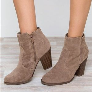 Shoes - Roberta Booties- Taupe