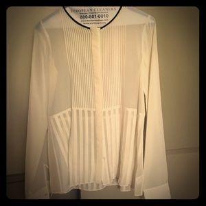 Theory sheer blouse