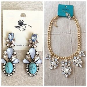 Jewelry - Bundle Statement Necklace and Earrings