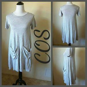 COS Dresses & Skirts - COS HEAVY JERSEY GRAY DRESS
