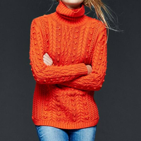 57% off Gap Sweaters - Gap Red - Orange Turtleneck Sweater from ...