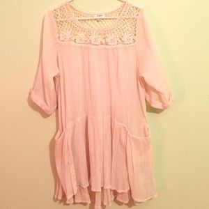 Vintage inspired oversized baby doll dress