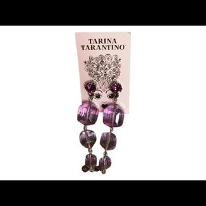 Tarina Tarantino Jewelry - Tarina Tarantino Purple Lucite Earrings