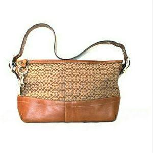 |SALE|• Authentic Coach Cognac Leather Bag •