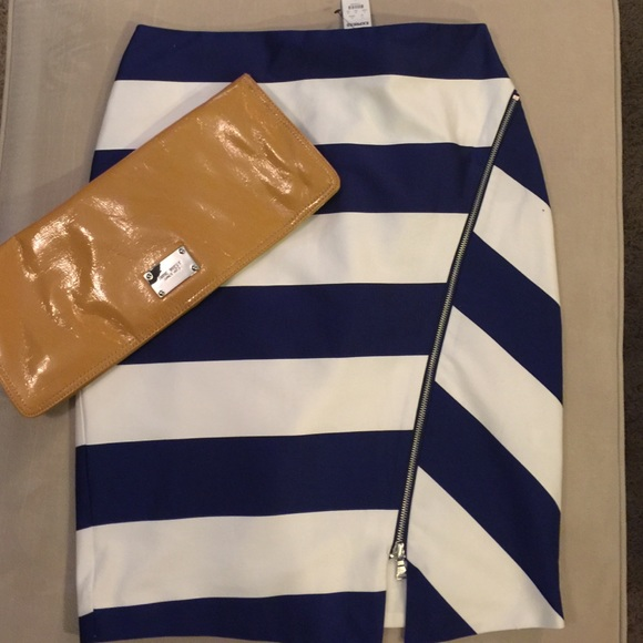 78% off Express Dresses & Skirts - Navy Blue and white striped ...