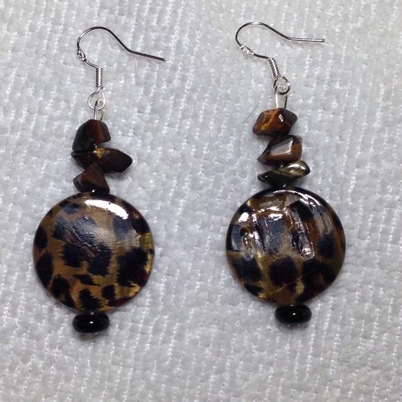PeaceFrog Jewelry - Tiger's Eye Leopard Silver Earrings