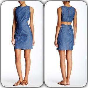Do & Be Open Back Denim Dress
