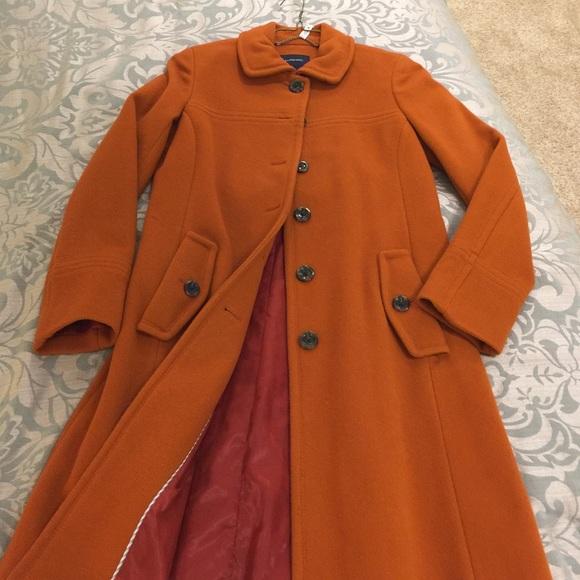 90% off Lands' End Jackets & Blazers - Lands End burnt orange wool ...