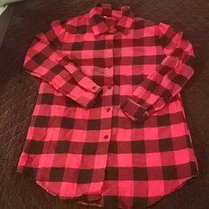 Red and black buffalo plaid shirt