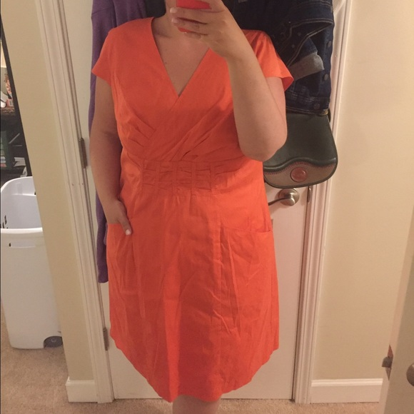 Jones New York Dresses | Plus Size Coral Dress | Poshmark