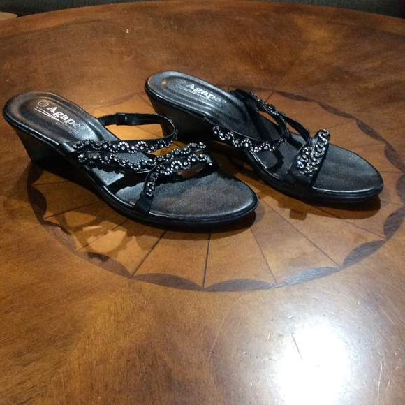 dd66ac8fabe8 Agape Shoes - Agape collection wedge sandals strappy sparkly 7.5