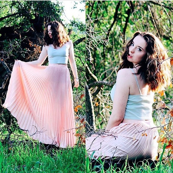 10b6be7474 Pink pleated Maxi Skirt. M_57afd95c9c6fcf2199016d85
