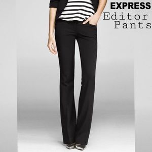 Express Black Editor Pants