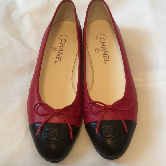 Authentic Chanel Ballet Flats Firm