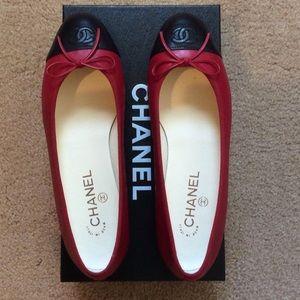 7e24a9c143b5d Chanel Shoes - SALE Authentic Chanel Ballet Flats Firm