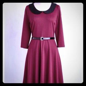 A-line burgundy dress - never worn.