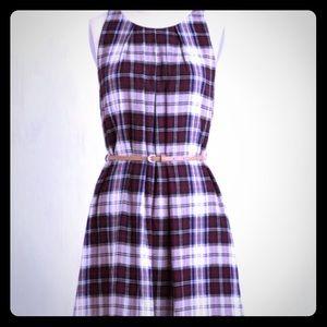 plaid print dress - never worn.