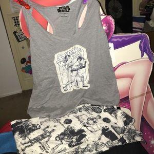 NEW with tags Star Wars pajama set tank pants L