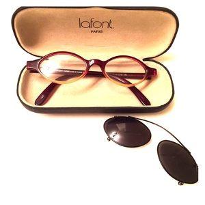3f7a00896701 Prescription Lafont glasses (with clip).Cat-eye♥️