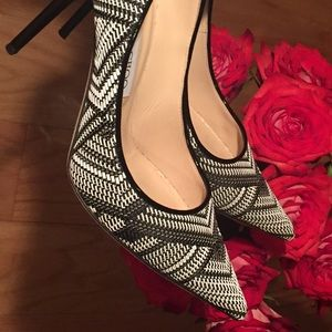 Jimmy Choo Shoes - 💋 Black and White Woven