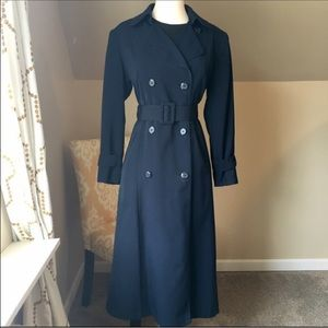 Gallery Jackets & Blazers - Long Navy Blue Trench Coat