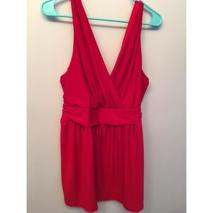 NWT Torrid Red V Neck Tank Top Blouse Size 1X