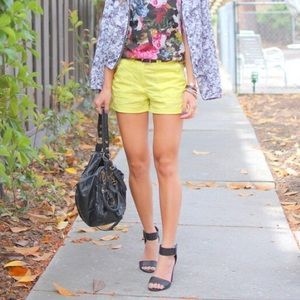 H&M Shorts - Like NEW worn once - H&M neon yellow shorts